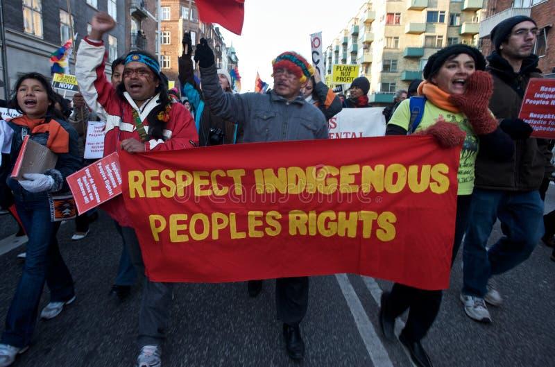 Les droits du peuple autochtone de respect photographie stock libre de droits