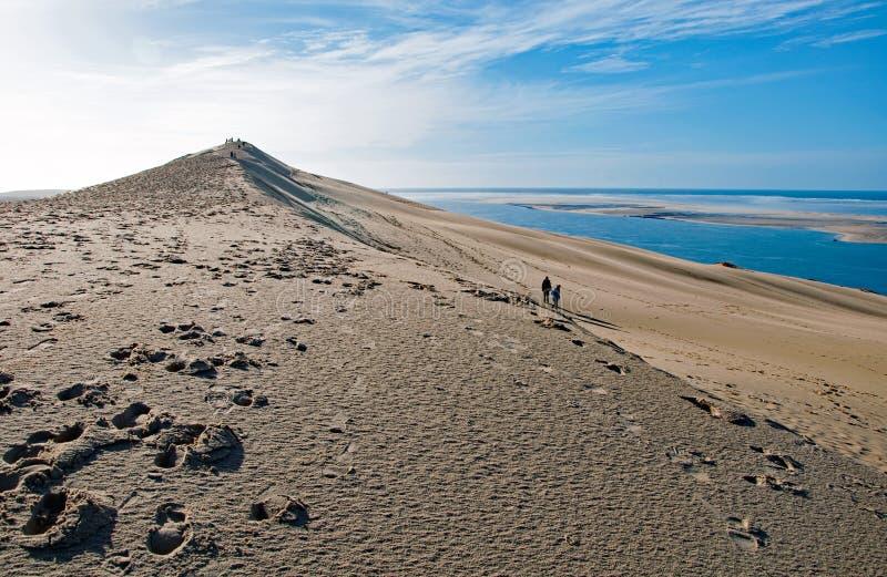Les dunes de Pilat en France, le plus haut en Europe images stock
