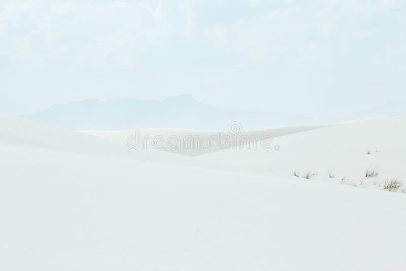 Les dunes de sable blanches forment un modèle photos libres de droits