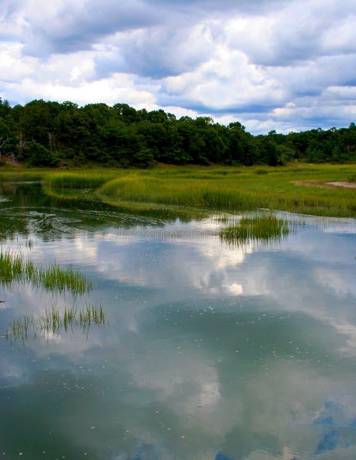 Les eaux encore calmes image libre de droits