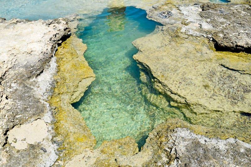 Les eaux magiques de turquoise, lagunes, cavités de mer Baie de Balos en ?le de Cr?te, Gr?ce photo libre de droits