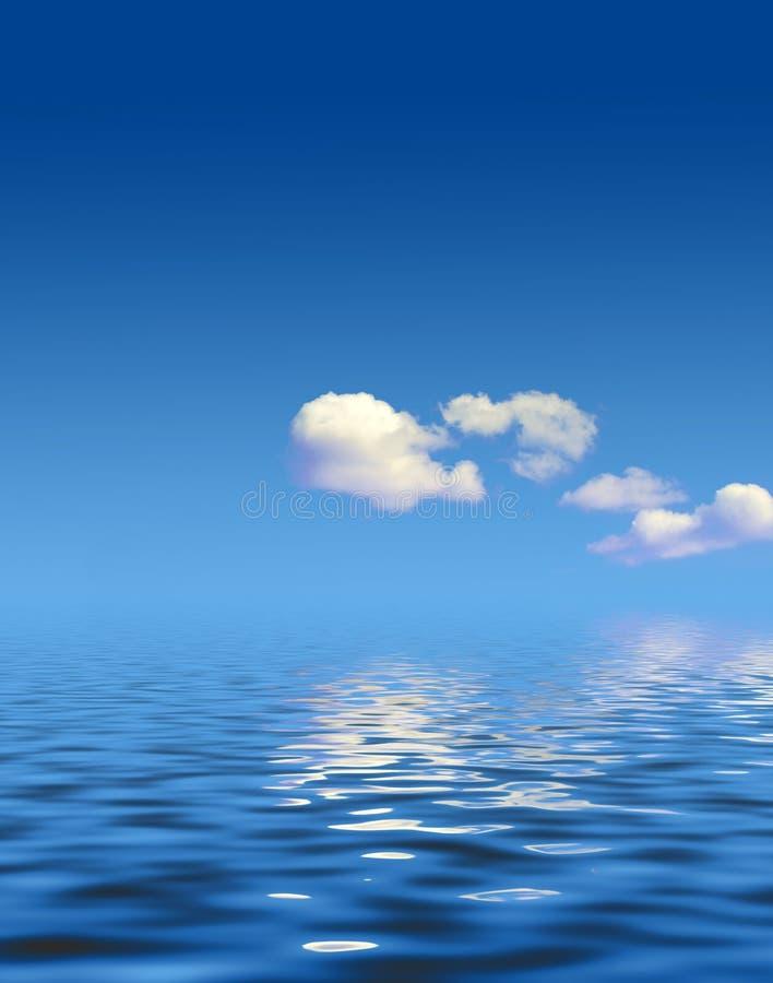les eaux tranquilles illustration de vecteur