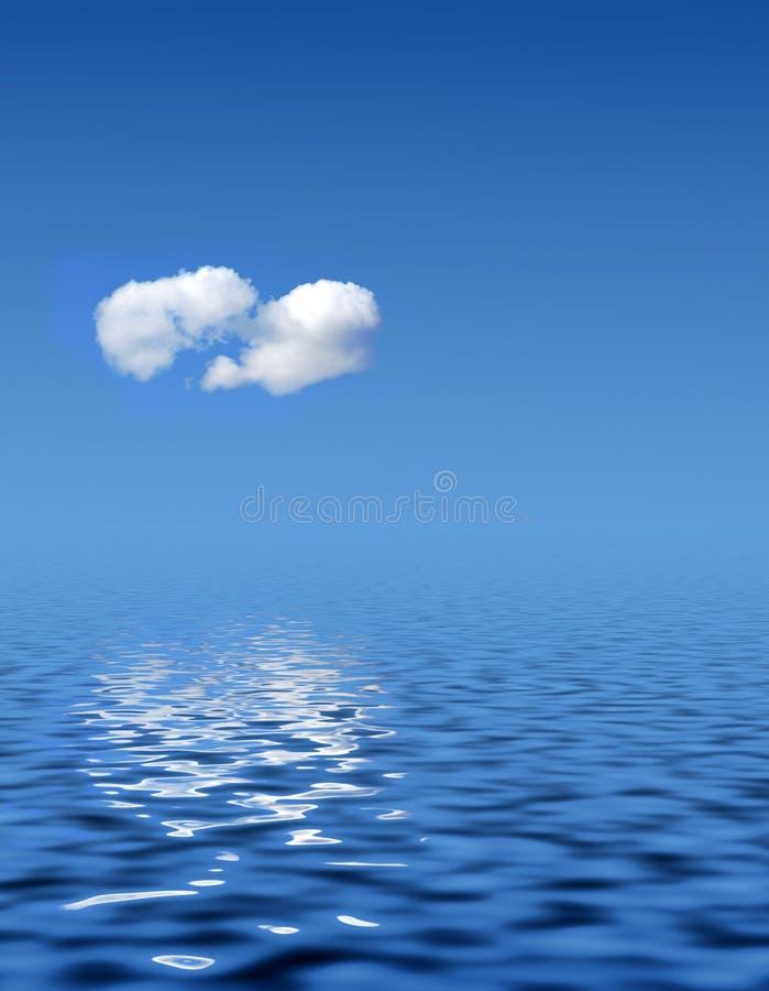 les eaux tranquilles illustration stock