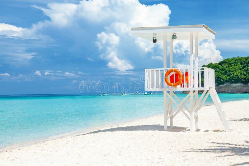 Les eaux transparentes et sable blanc à Boracay photos libres de droits
