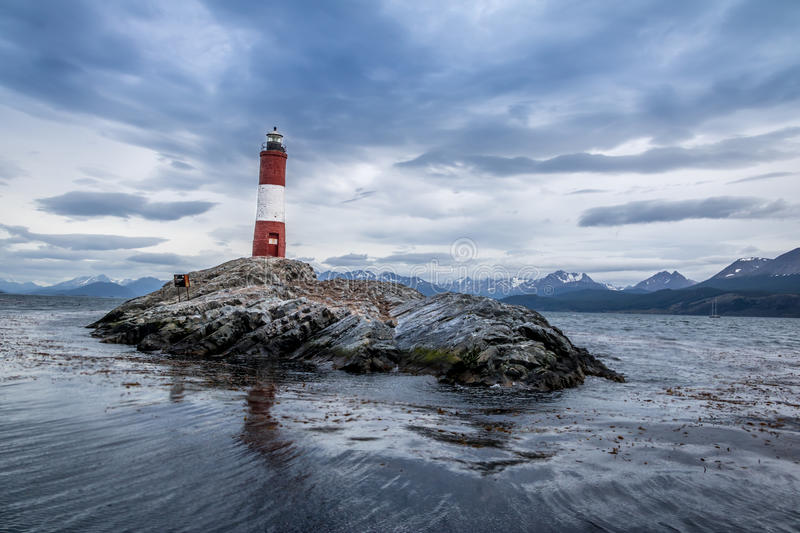 Les Eclaireurs lighthouse royalty free stock photos