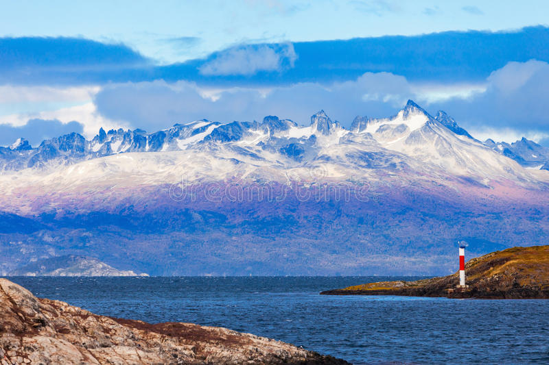 Les Eclaireurs Lighthouse, Ushuaia royalty free stock photography