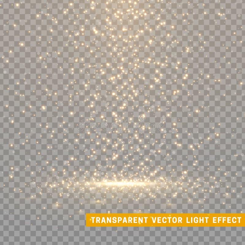 Les effets de la lumière rougeoyants de scintillement ont isolé réaliste Élément de conception de décoration de Noël Éléments de  illustration de vecteur