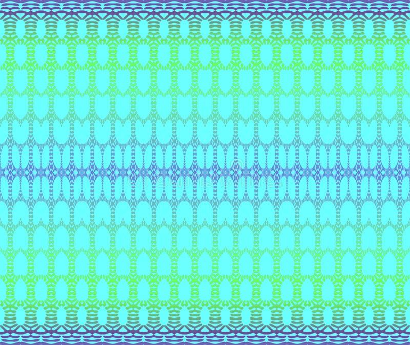 Les ellipses brillantes sans couture modèlent le pourpre de vert bleu de turquoise horizontalement illustration libre de droits
