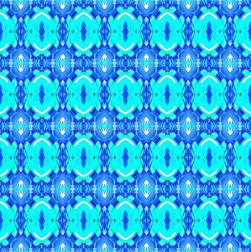 Les ellipses régulières sans couture modèlent la turquoise bleu-foncé illustration stock