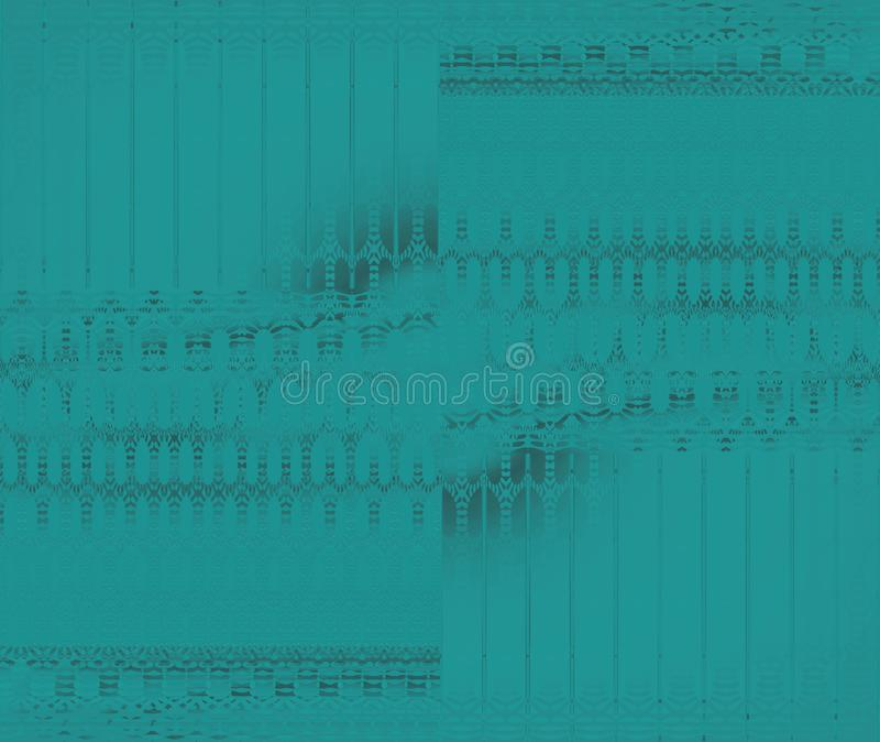 Les ellipses sans couture et les rayures modèlent le vert de turquoise décalé illustration de vecteur