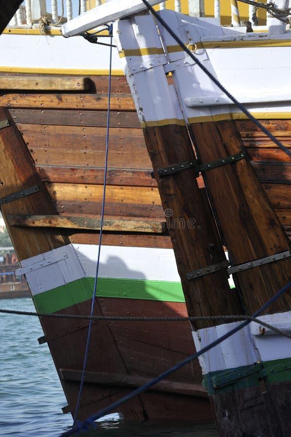 Les Emirats Arabes Unis : bateau du Dubaï à la crique photo libre de droits