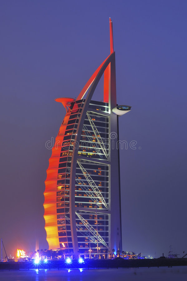 Les Emirats Arabes Unis : Hôtel d'Arabe d'Al de Dubaï Burj photo libre de droits