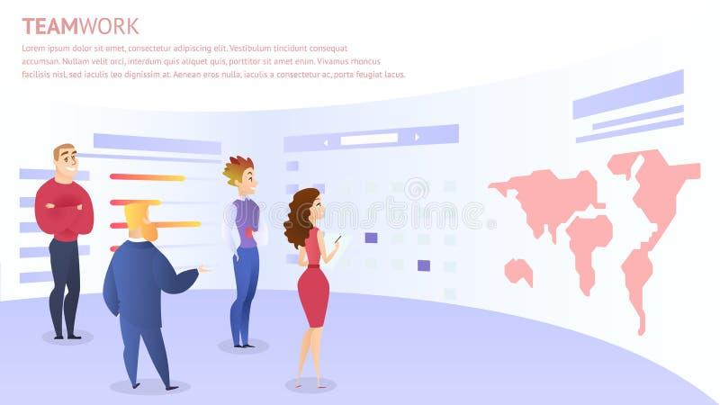 Les employés discutent l'idée pour le développement de projet de Web illustration stock