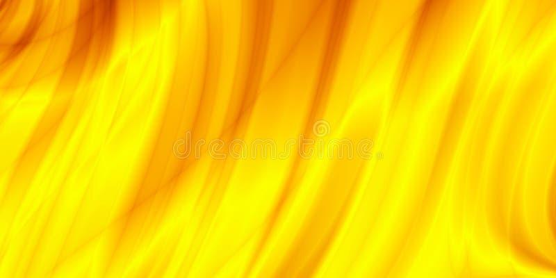 Les en-têtes jaunes de calibre d'abrégé sur ressort conçoivent illustration de vecteur