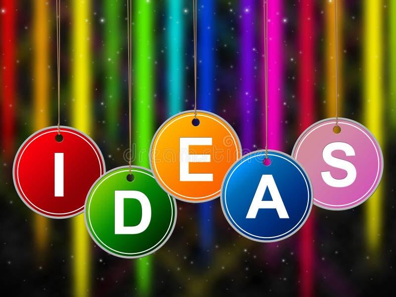 Les enfants d'idées représente l'enfant et les jeunes de créativité illustration libre de droits