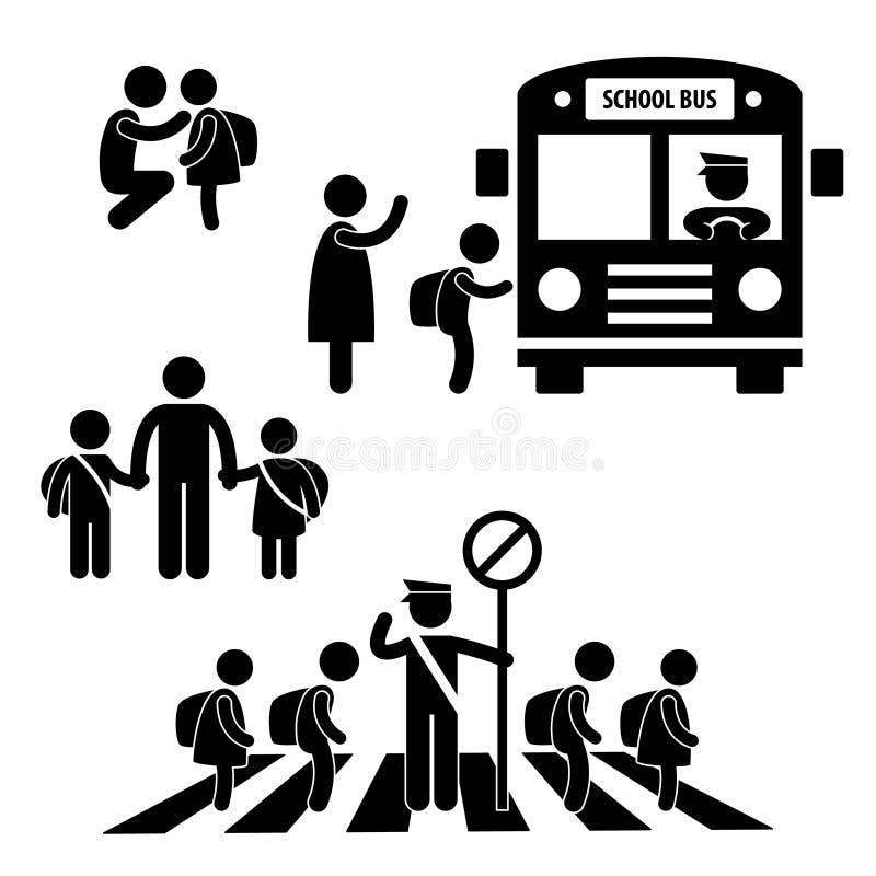 Les enfants de pupille d'étudiant desserrent l'école illustration libre de droits