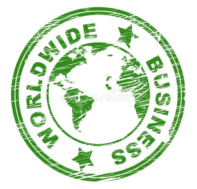 Les entreprises de Worldwide Business Represents Corporation et généralisent illustration stock