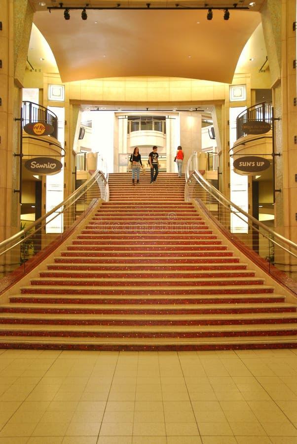 Les escaliers au théâtre de Kodak à Hollywood photos libres de droits
