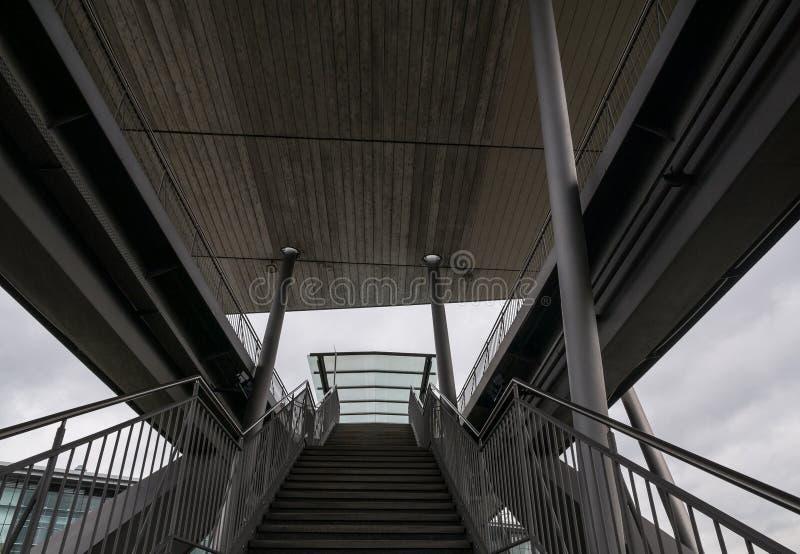 Les escaliers dans une ville Wolfsbourg, Allemagne image stock