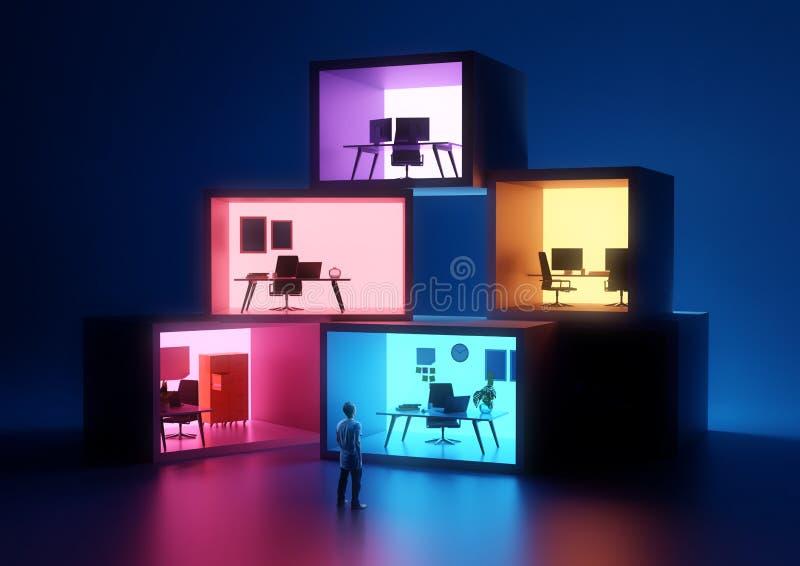 Les espaces de local commercial et de lieu de travail image libre de droits