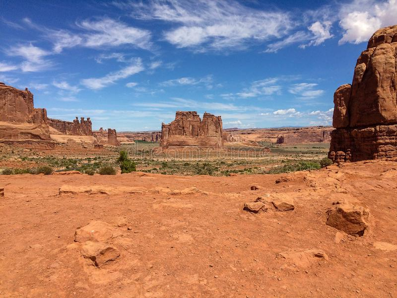 Les espaces grands ouverts dans le désert photos stock
