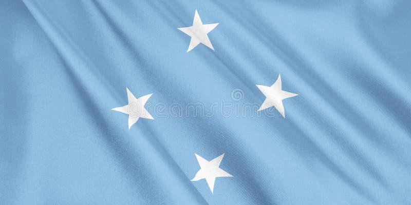 Les Etats fédérés de Micronésie marquent l'ondulation avec le vent illustration libre de droits