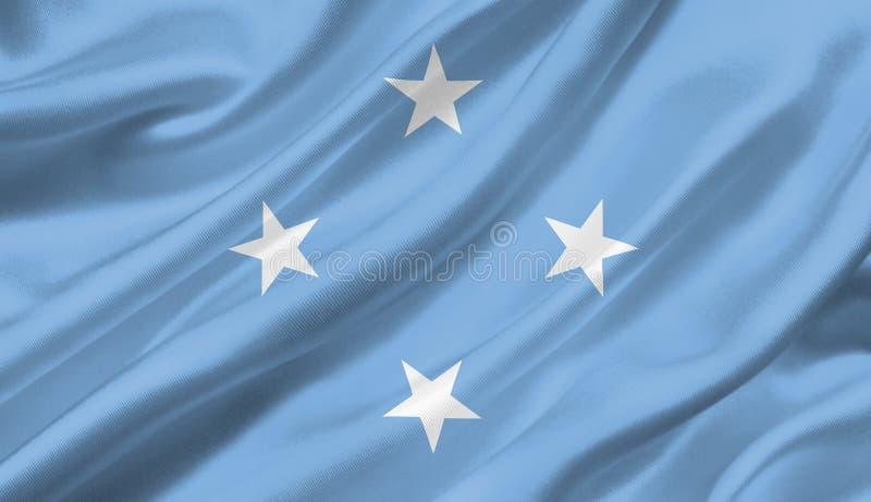 Les Etats fédérés de Micronésie marquent l'ondulation avec le vent, la défectuosité 3D illustration stock