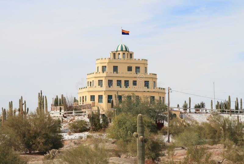 Les Etats-Unis, Arizona/Phoenix : Château/vue de Tovrea d'ouest photographie stock libre de droits