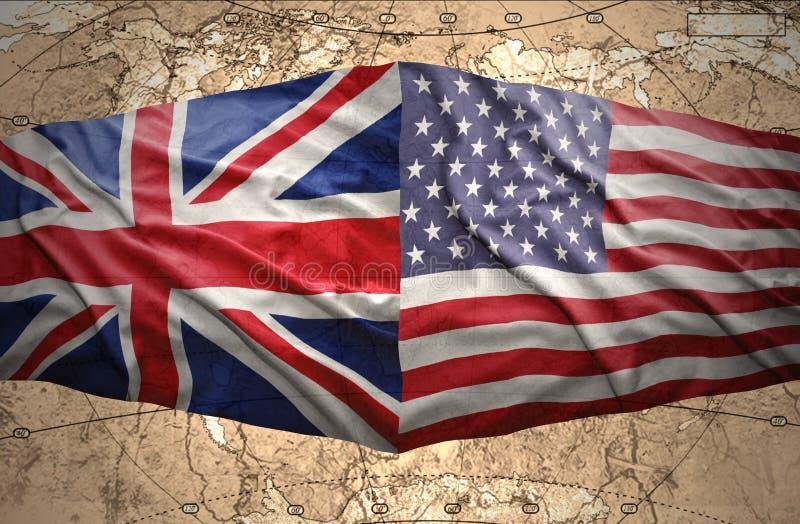 Les Etats-Unis d'Amérique et le Royaume-Uni photographie stock