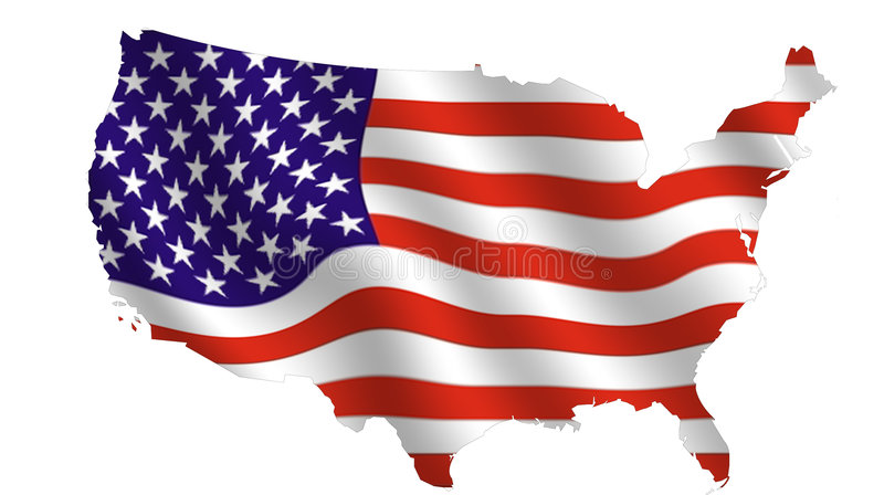 Les Etats-Unis de ondulation illustration stock