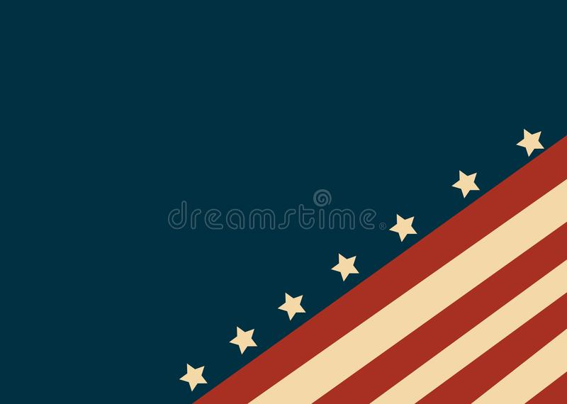 Les Etats-Unis diminuent dans le vecteur de style illustration libre de droits