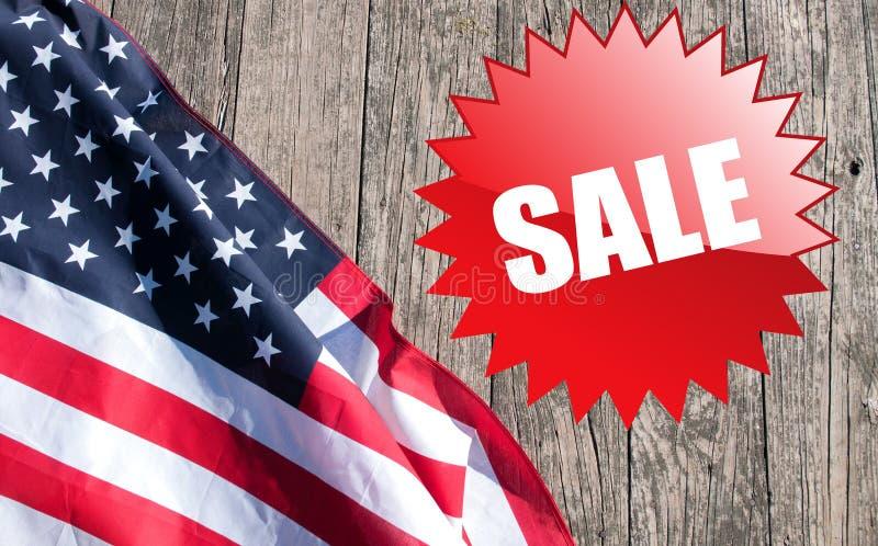 Les Etats-Unis diminuent Vacances américaines Vente image stock