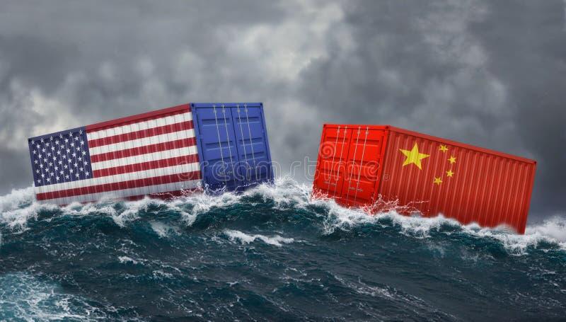 Les Etats-Unis et guerre commerciale de la Chine photos libres de droits