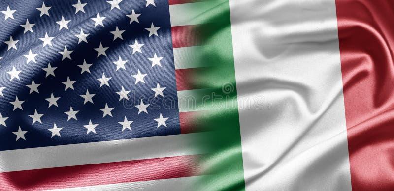 Les Etats-Unis et l'Italie illustration stock