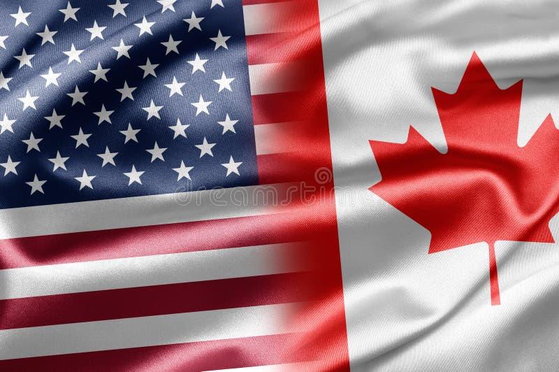 Les Etats-Unis et le Canada illustration stock