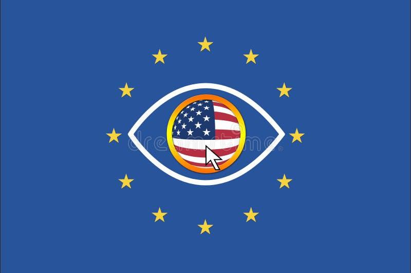 Les Etats-Unis et Union européenne illustration libre de droits
