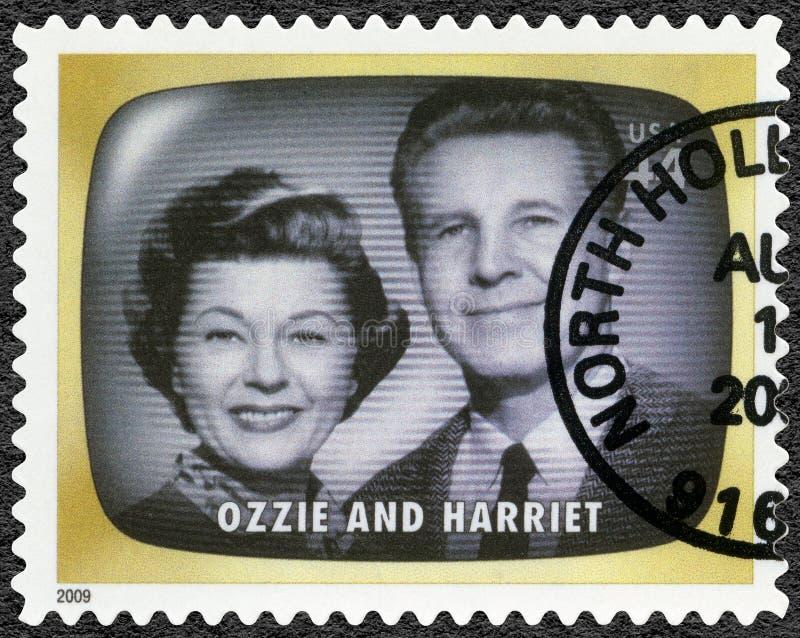 Les ETATS-UNIS - 2009 : expositions Ozzie et Harriet, première mémoire de TV photos libres de droits