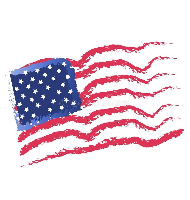 Les Etats-Unis marquent et tiennent le premier rôle l'icône illustration de vecteur