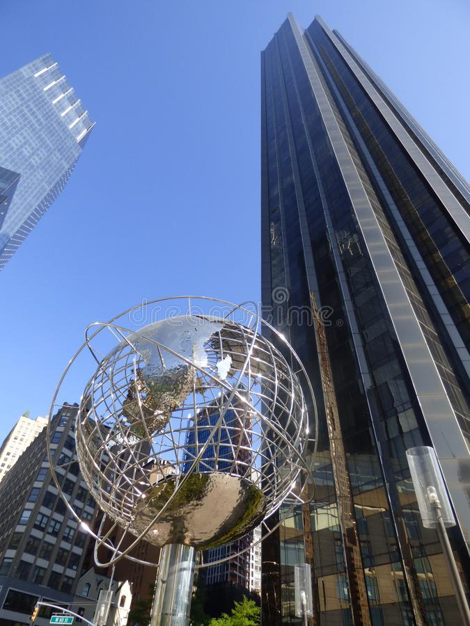 LES Etats-Unis New York Columbus Circle photo libre de droits