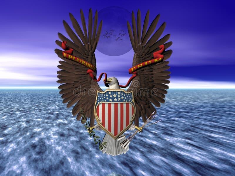 Les Etats-Unis scellent, fierté et liberté. illustration libre de droits