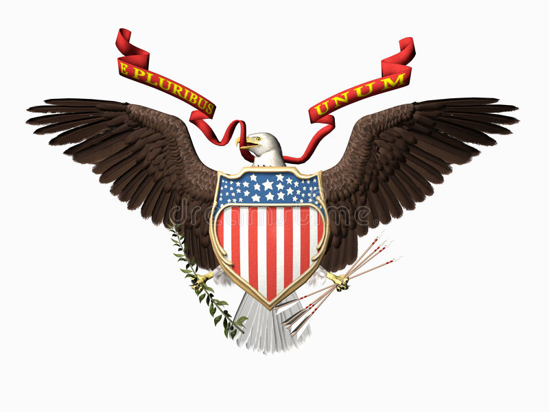 Les Etats-Unis scellent, unum de pluribus d'E. illustration de vecteur