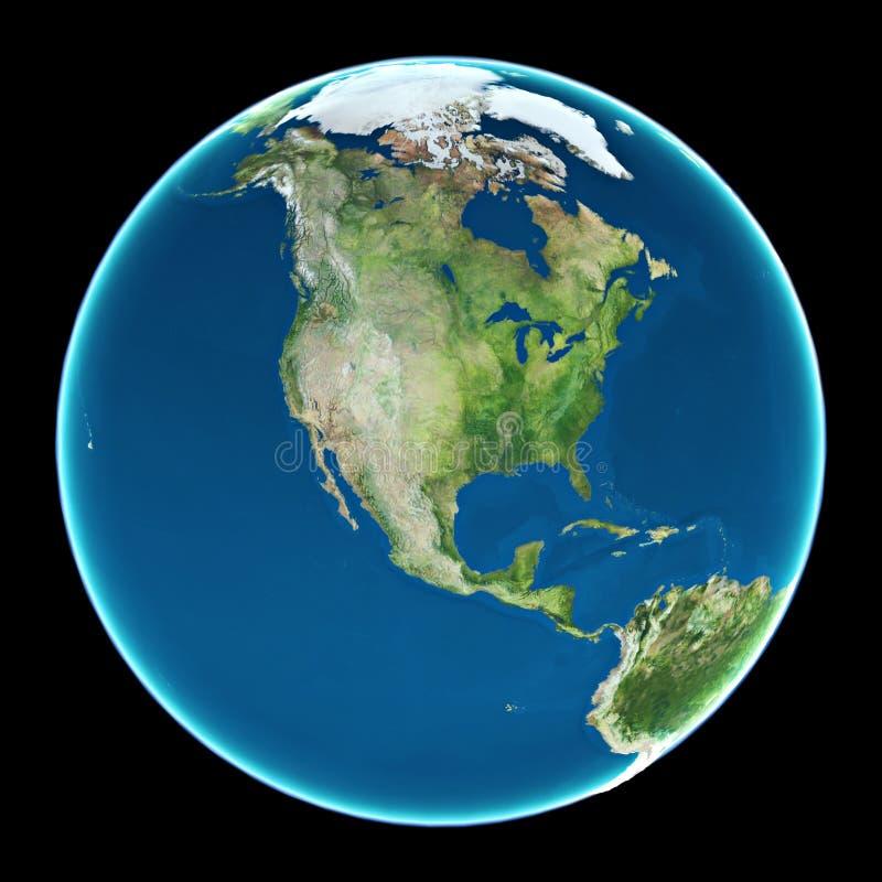 Les Etats-Unis sur terre de planète illustration libre de droits