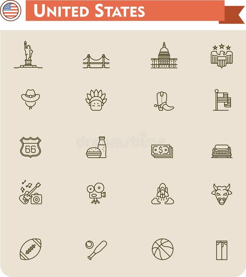 Les Etats-Unis voyagent ensemble d'icône illustration de vecteur