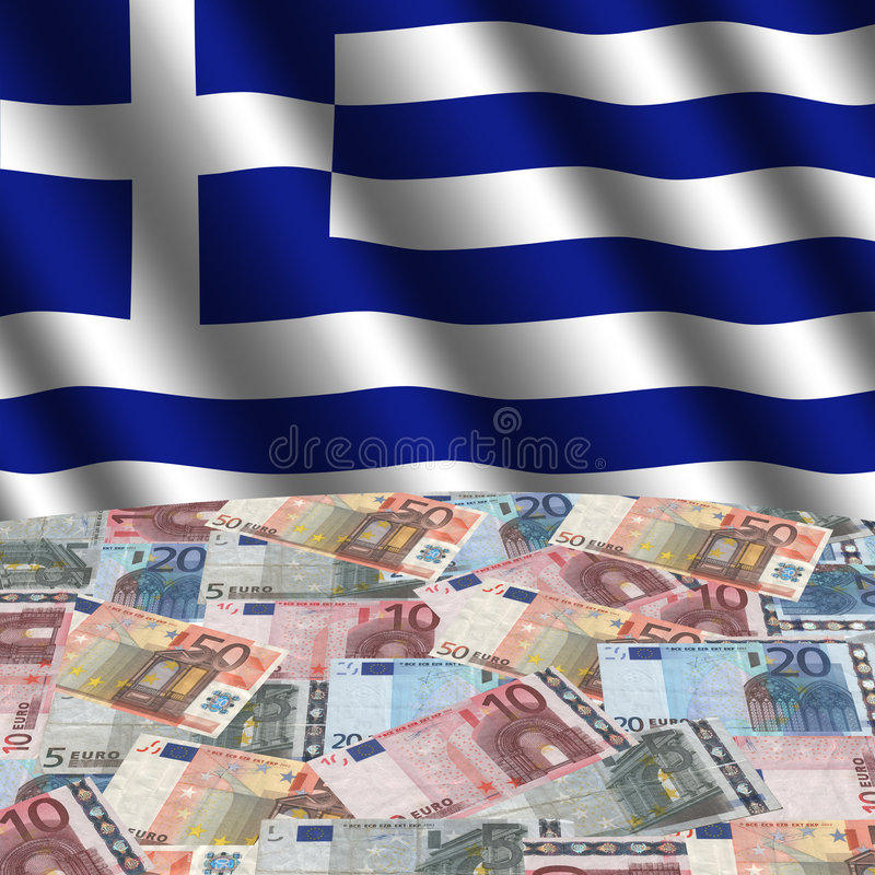 les euro marquent le Grec illustration stock