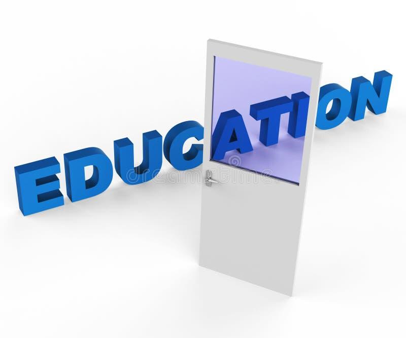 Les expositions d'éducation de porte développent instruit et l'université illustration libre de droits