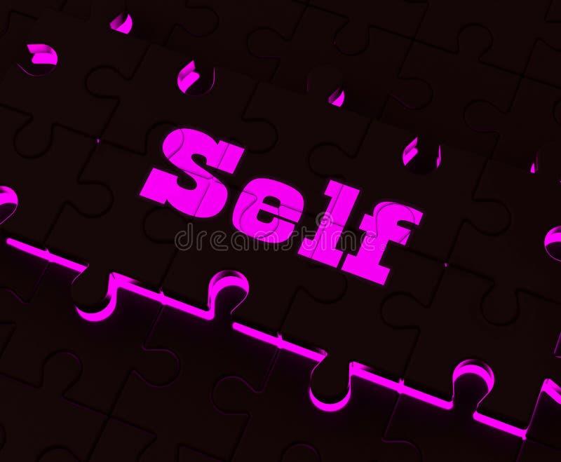Les expositions de puzzle d'individu me croient mon vous-même ou moi-même illustration libre de droits