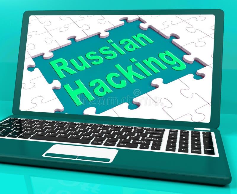Les expositions entaillantes russes d'ordinateur portable attaquent l'illustration 3d illustration libre de droits