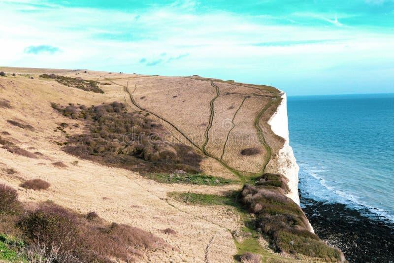 Les falaises blanches de Douvres photo stock