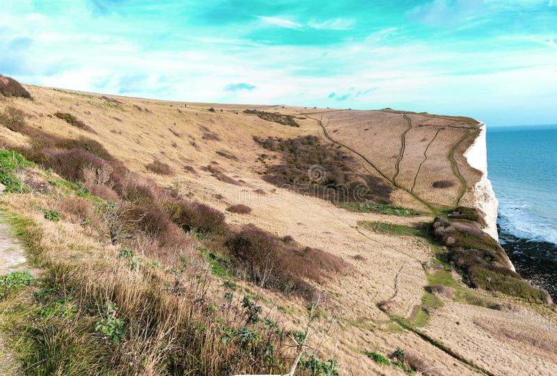 Les falaises blanches de Douvres photo libre de droits