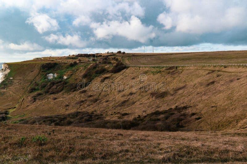 Les falaises blanches de Douvres image libre de droits
